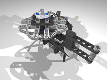 LEGO Geneva Mechanism